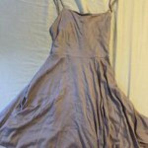 urban outfitters purple skater open back dress